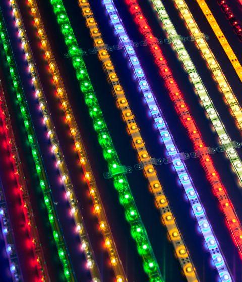 תאורת לד לבחירה למאוורר תקרה