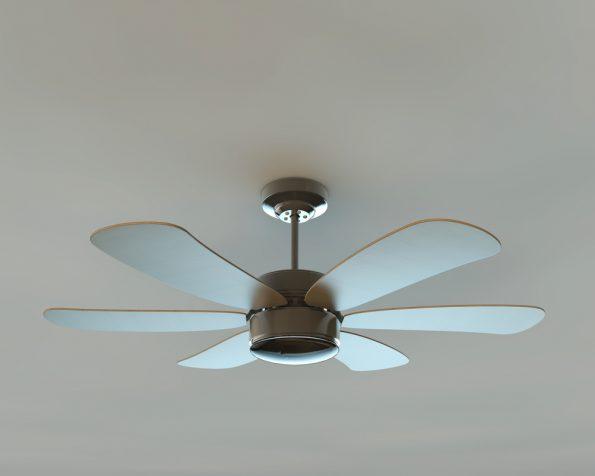 מאוורר תקרה עם 6 כנפיים