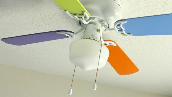 מאוורר תקרה בצבע